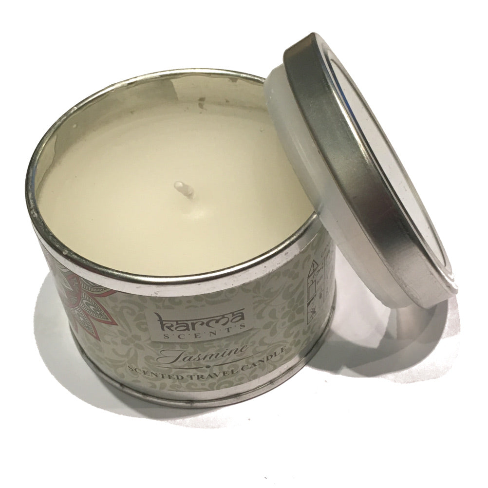 Jasmine Karma Scents Tinned Candle