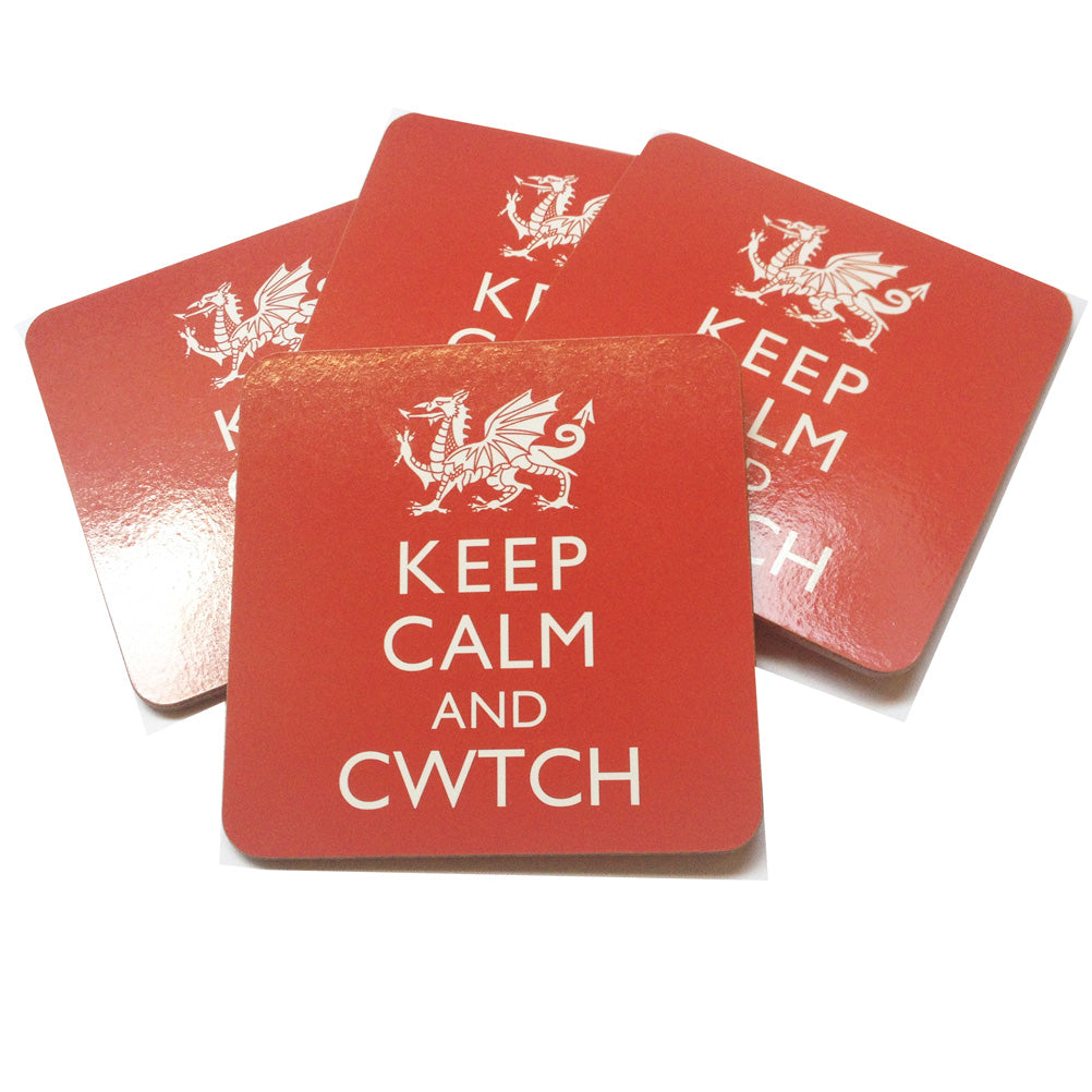 Wales Keep Calm Cwtch 4pk Board Coasters [wh190]