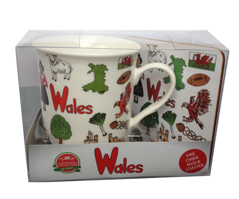 LP Wales Icons Mug & Coaster Set