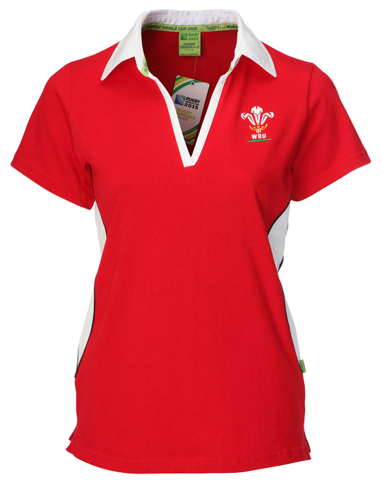 Ladies Official WRU Short Sleeve Rugby Shirt