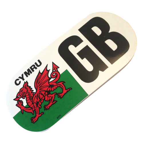 Large Wales GB Car Sticker [wb20]