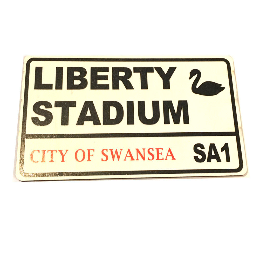 Liberty Stadium Rugby Football Supporter Wooden Street Sign. Swans, Ospreys [wg644]
