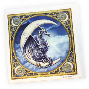 Lisa Parker Design Celtic Dragon Moon Greetings Card