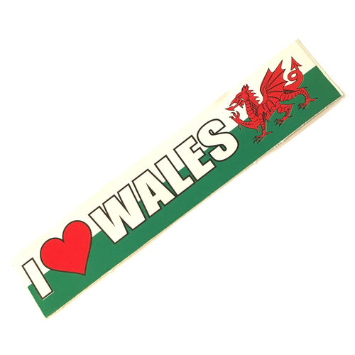 Love Wales Car Bumper Sticker