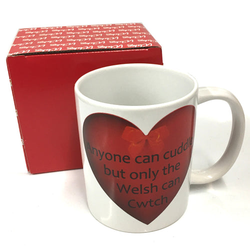 MGR Wales Only Welsh Cwtch Heart Mug