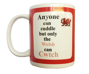 Mgr Special 'Anyone Can Cuddle, Only The Welsh Can Cwtch' Boxed Mug