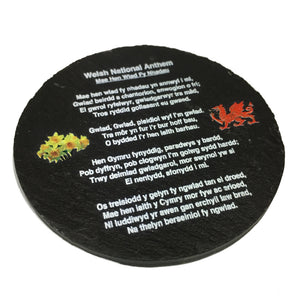 Wales National Anthem Welsh Slate Coaster [ws30]