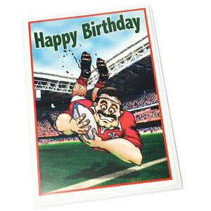 Nix Wales Rugby Try Scorer Birthday Card [enx4]