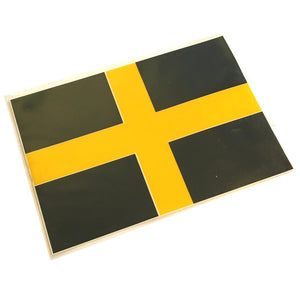 Oblong St David's Flag Sticker [16x11cm]