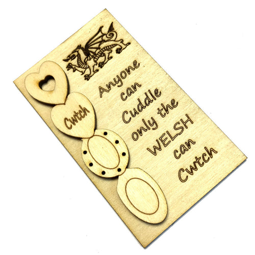 Only Welsh Cwtch Lovespoon Plaque Fridge Magnet