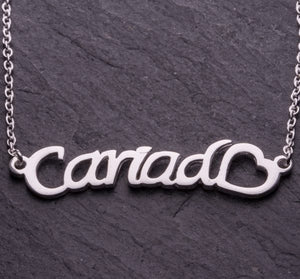 Celtic Collection Cariad Script Silver Pendant [jb3296]