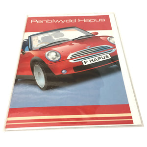 Penblwydd Hapus Welsh Birthday Card - Mini Car Bo
