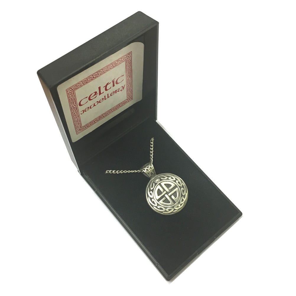 Celtic Collection Pewter Celtic Weave Pendant Necklace [sjp-pwp244]