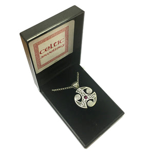 Celtic Collection Pewter Celtic Weave Pendant Necklace [sjp-pwp3121]