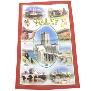 Pictorial South Wales Tea Towel LWT52