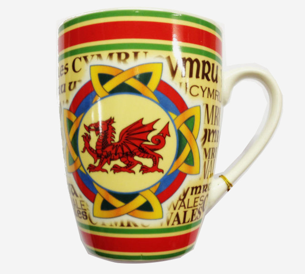 Wales Celtic Dragon Curved Ceramic Mug [wh206]