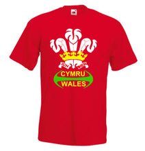 Wales Rugby Feathers Loose-Fit Unisex T-Shirt red