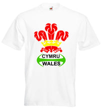 Wales Rugby Feathers Loose-Fit Unisex T-Shirt white