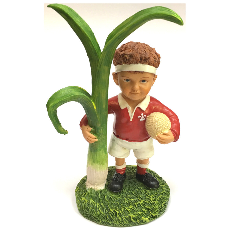 Rugby Player & Leek  Collectible Resin Figure by John Upton