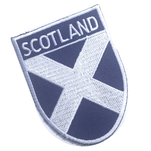 Scotland Scottish Saltire St Andrews Cross Shield Embroidered Patch