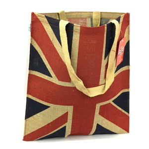 Union Jack Jute Shoulder Bag [HH592]