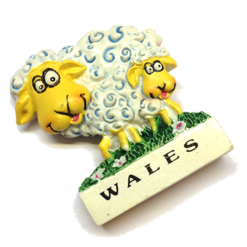 Wales Welsh Sheep & Lamb Fridge Magnet
