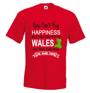 Happiness Go To Wales Unisex T-Shirt - red