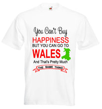 Happiness Go To Wales Unisex T-Shirt - white