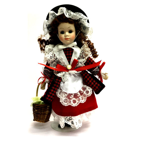 Llinos 10.5inch Welsh Costume Porcelain Doll [wd14]
