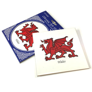 Wales Dragon Square Ceramic Pot Stand [gwp]