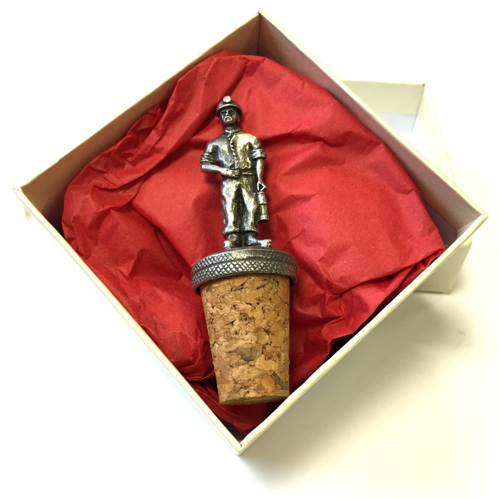 Wales Miner Pewter Bottle Stopper [BS921]