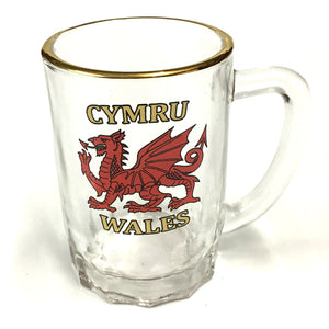 Wales Welsh Dragon Mini Glass Tankard