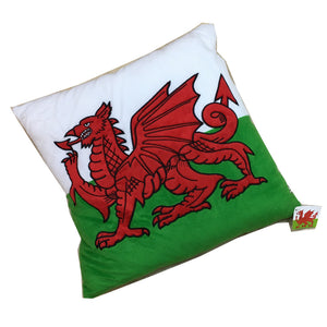 Wales Welsh Flag Plush Cushion