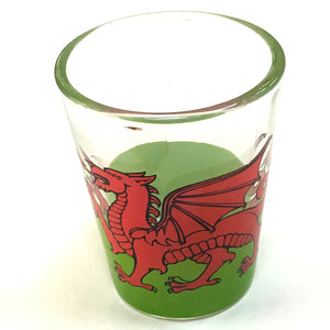 Wales Welsh Flag Shot Shooter Glass