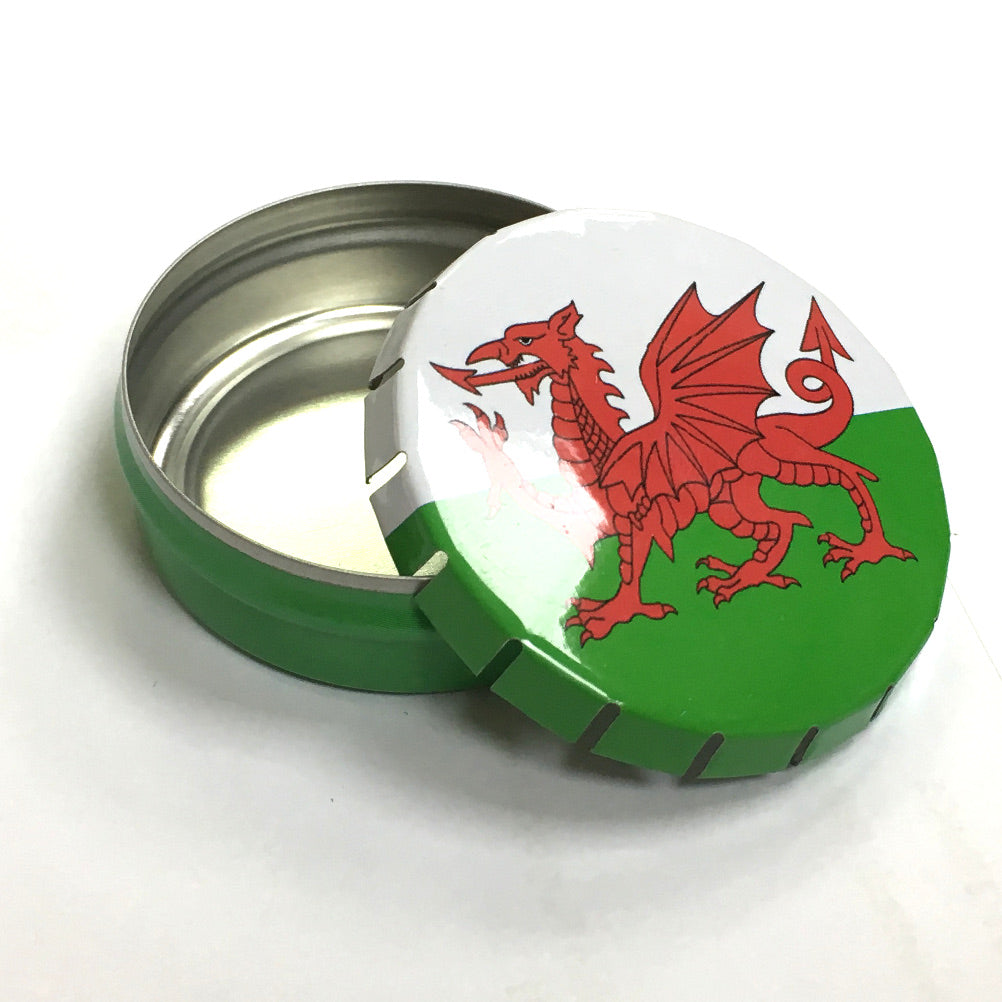 Welsh Flag Click Tin