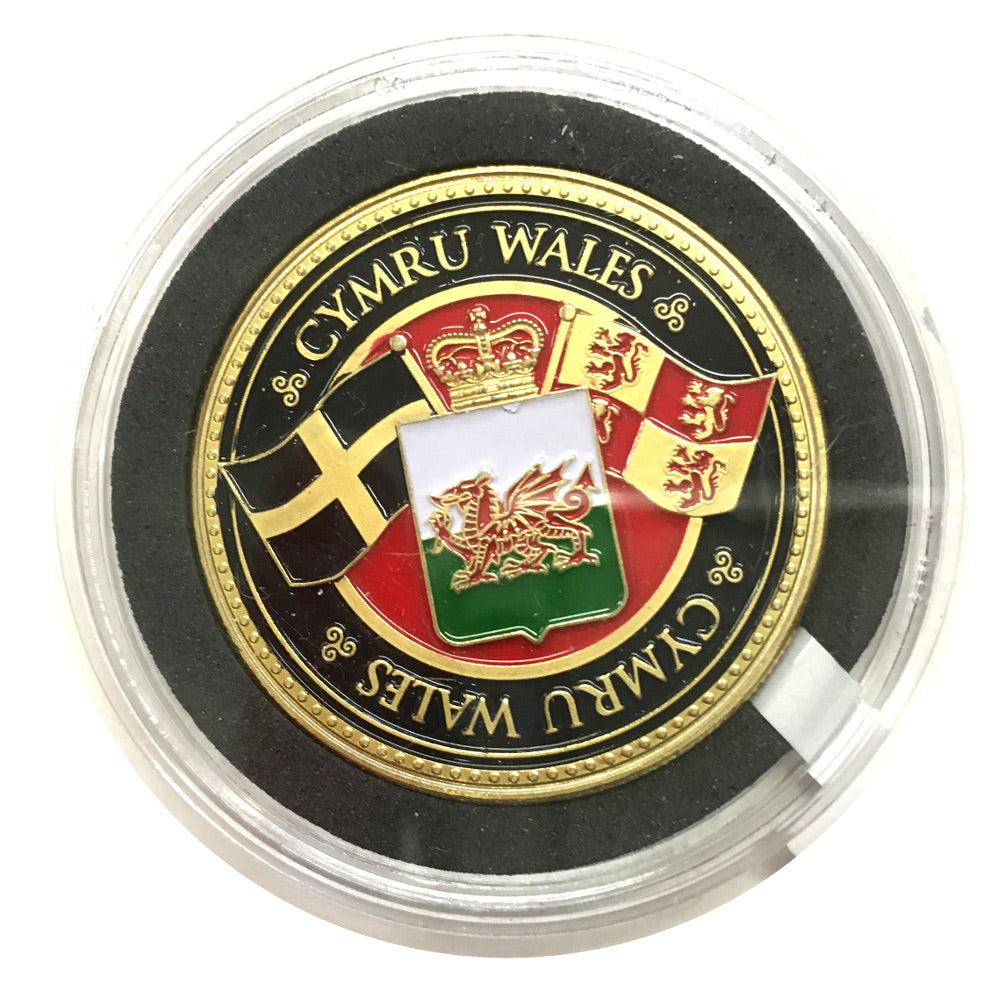 Cymru 3 Flags of Wales Colour Collector Coin [wn262]