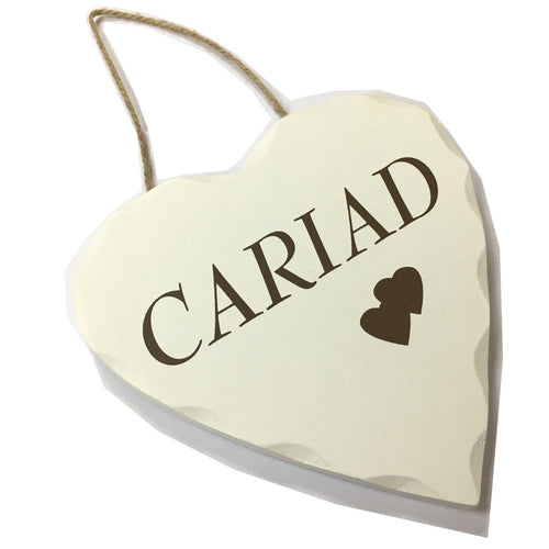 Wales Decorative Heart Sign CARIAD [wg543]