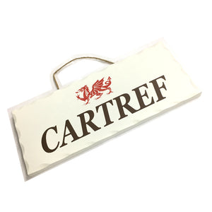 Wales Decorative Sign CARTREF [wg546]