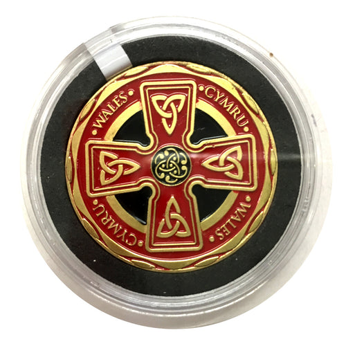 Cymru Wales CELTIC CROSS Colour Collector Coin [wn258]
