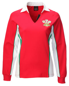 Wales Classic Cut Ladies Long Sleeve Rugby Shirt