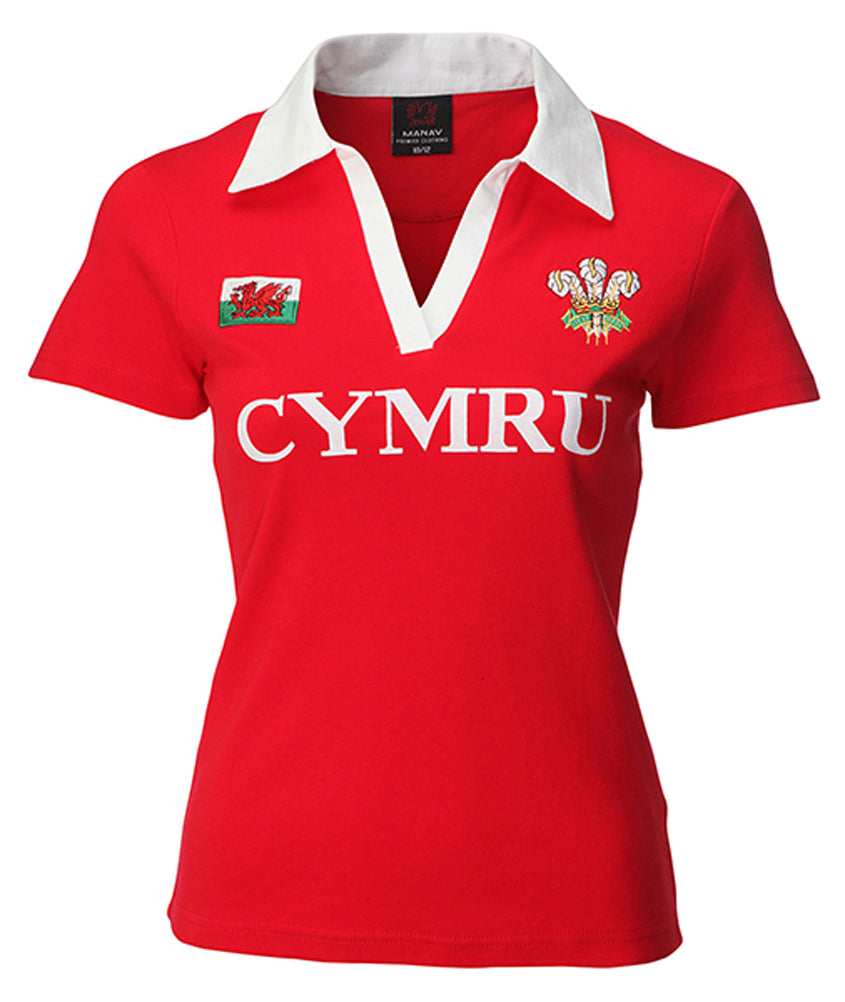 Wales Classic Cut Ladies Short Sleeve Rugby Shirt