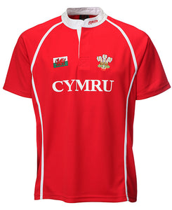 Wales Junior Cooldry  Poly Rugby Shirt
