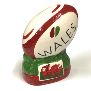 Wales Rugby Ball Upright Money Box [wg597]