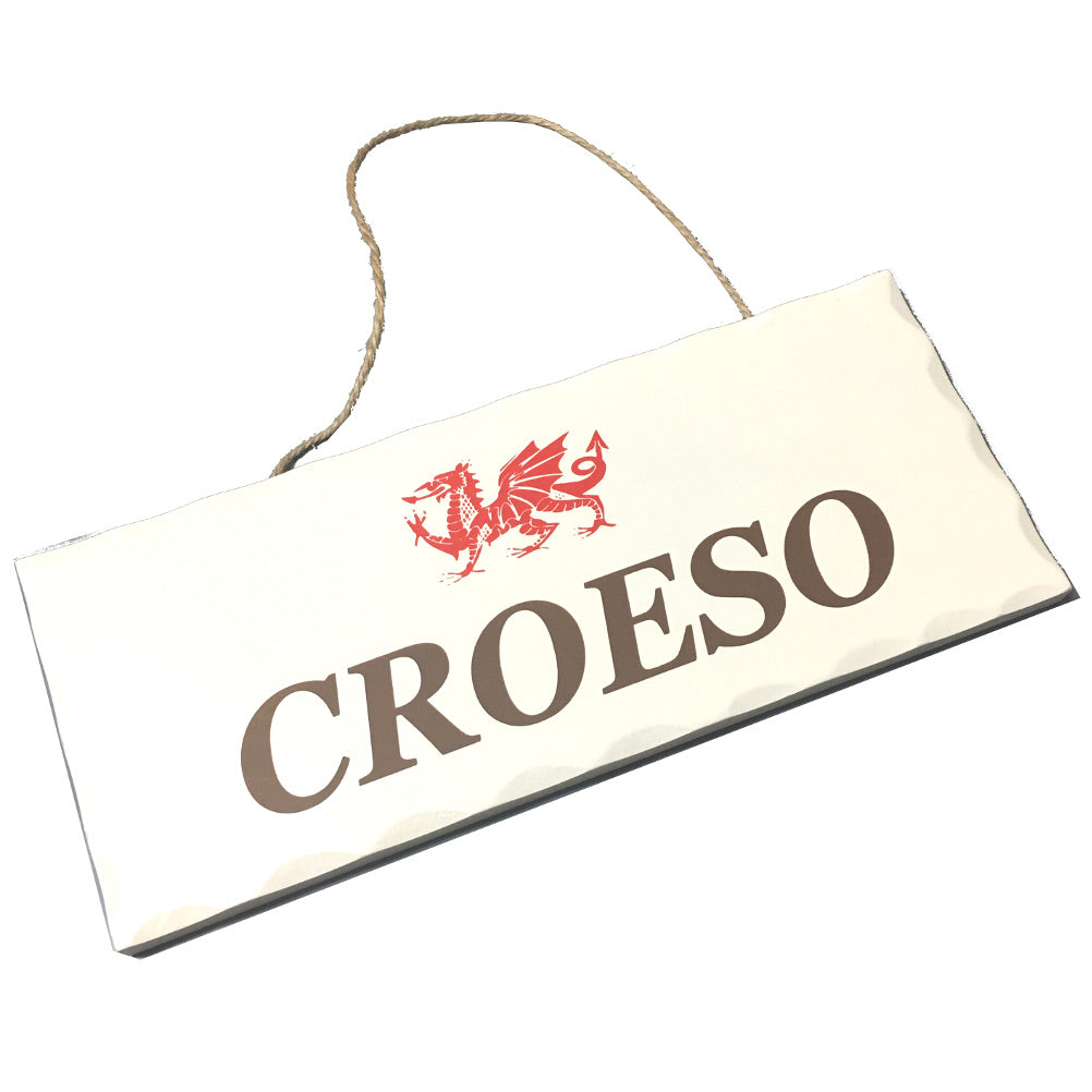 Wales Decorative Sign CROESO [wg539]
