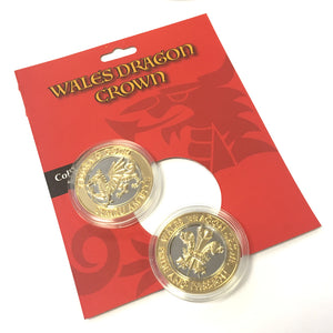Wales Dragon Crown 30mm Collector Coin [wn251]