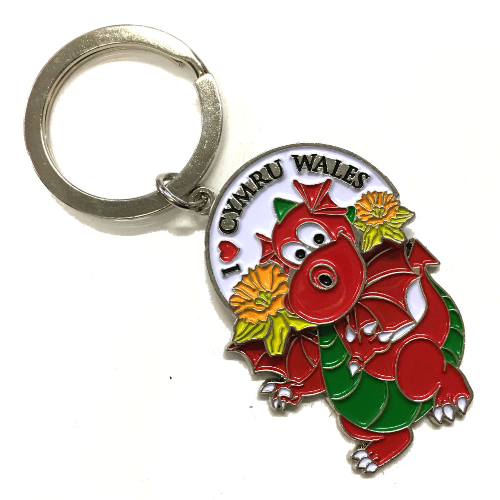 Wales Dragon Swinging Body Keyring [wk314]