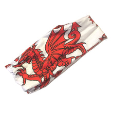 Wales Dragon White Polyester Multiscarf Scarf [wa179]