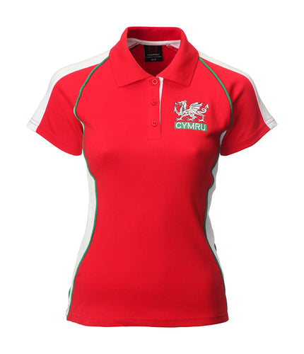 Wales Polo Style Ladies Rugby Shirt