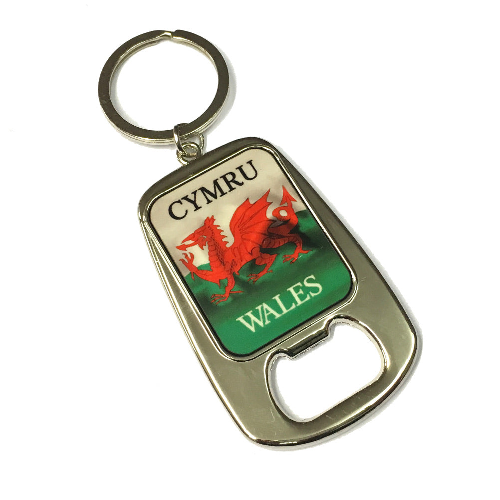 Wales Flag Bottle Opener Keyring [wk311]
