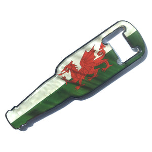 Wales Flag Epoxy Polydome Metal Bottle Opener Fridge Magnet [wm792]
